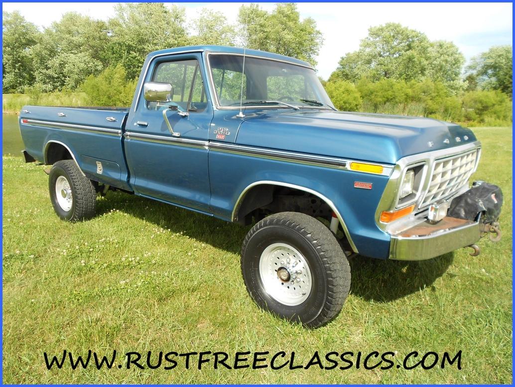1979 F250 4x4 long bed XLT 79 survivor Ford Camper Special Blue